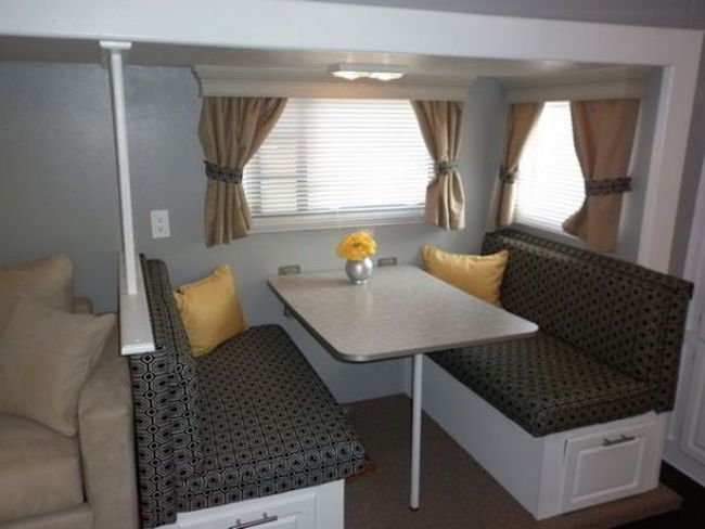 16 year old jayco travel trailer gets interior decor makeover Travel trailer decorating ideas