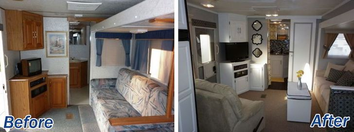RV interior decor - living room
