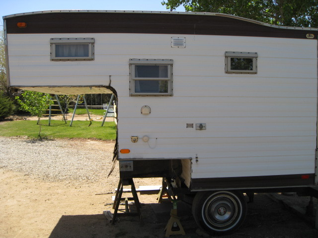 Side view of the camper body