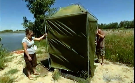 Portable Outdoor Camping Shower With Unlimited Hot Water