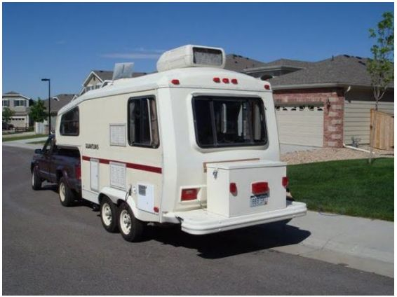 Meet A 30 Year Old Small Fifth Wheel Camper Who Goes By
