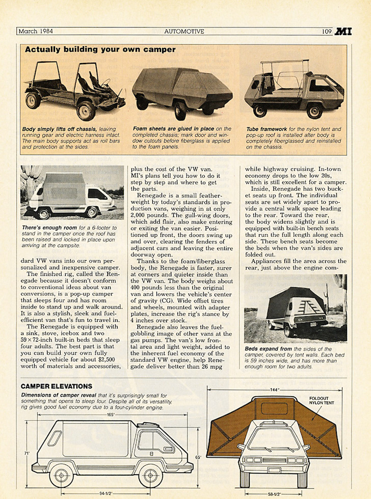 DIY VW Camper Van Plans