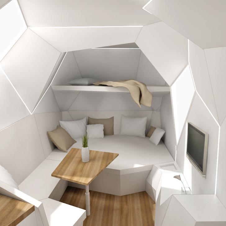 Inside of caravan