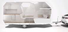 Mehrzeller RV Concept Turns a Travel Trailer Into A Cut Gemstone