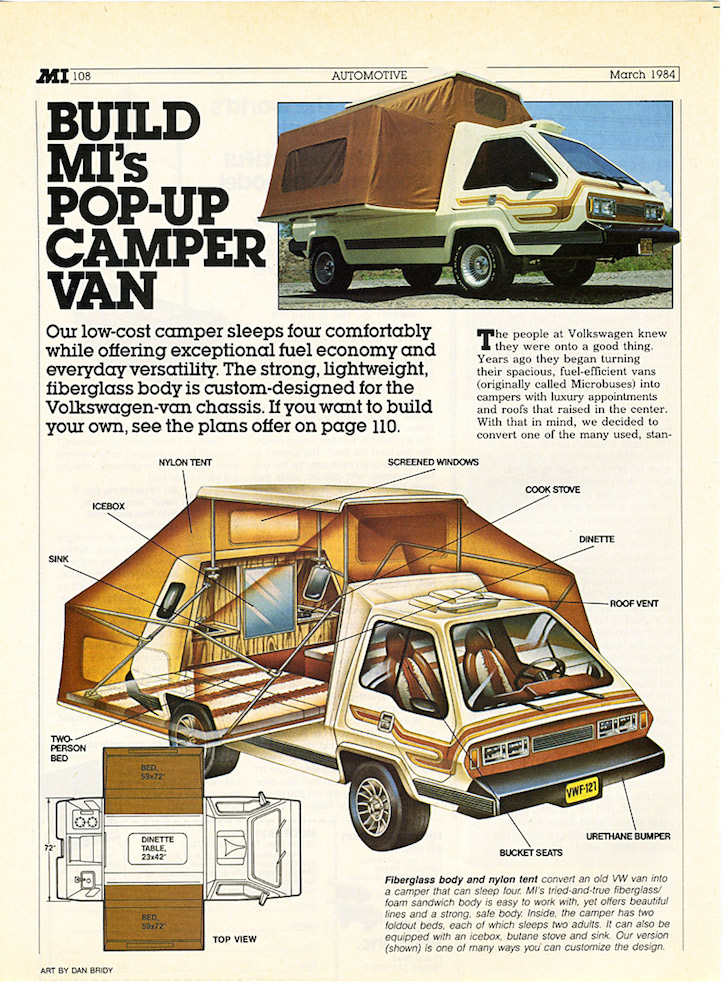 VW camper van plans