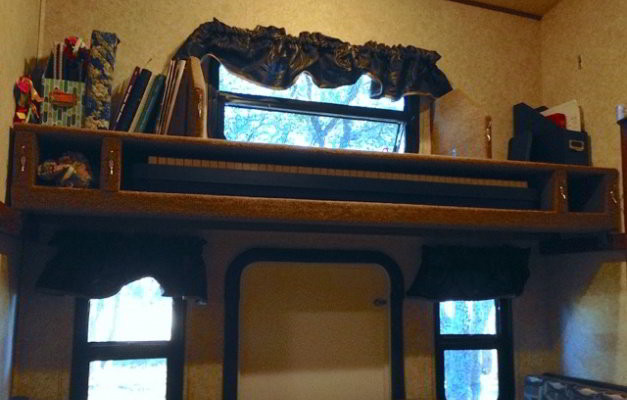 Turn An RV Bunk Bed into a Storage Shelf With Space for Almost Anything