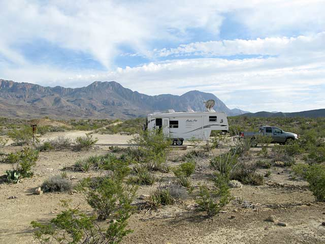Agreda big bend boondocking RV