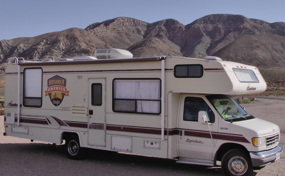 Exterior of motorhome in Arizona