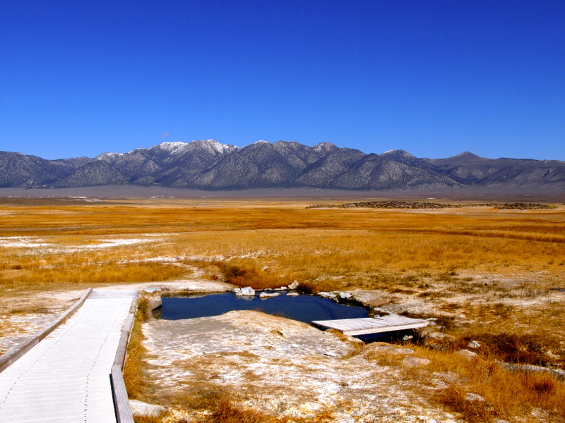 Free hot springs in california