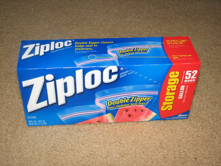 Gallon Ziplock bag