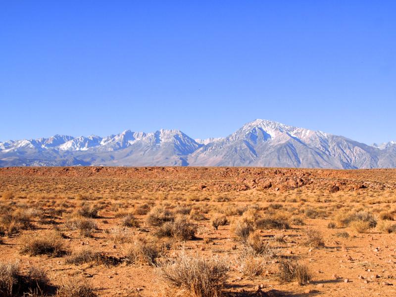 Eastern Sierra mountains california