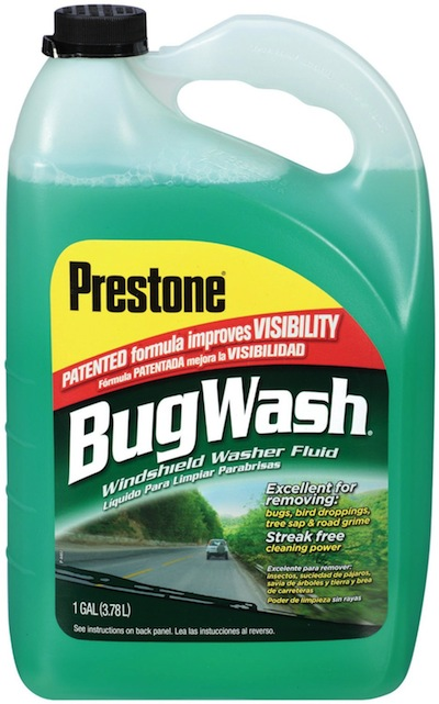 bug wash windshield fluid