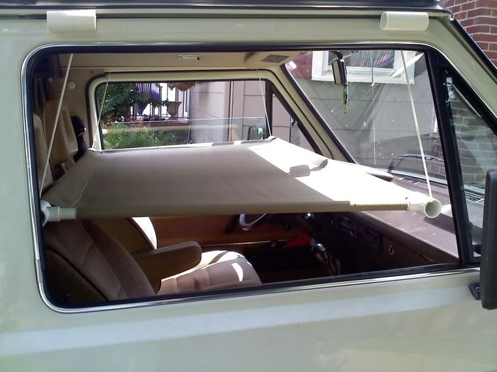 Cab bunk ready for use