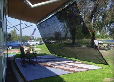 RV awning shade kit