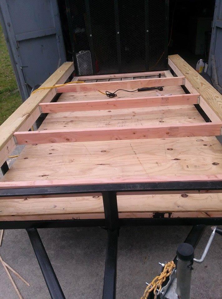 camper frame install diy teardrop
