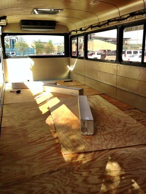 cargo space DIY plywood subfloor