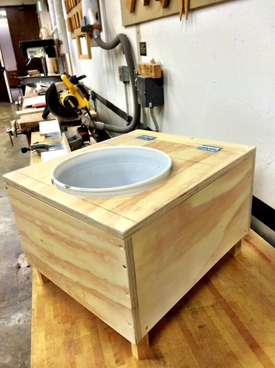 diy rv composting toilet in progress