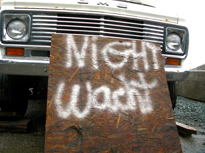 graffiti on trailer
