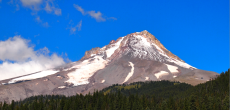 see mount hood on a clear day