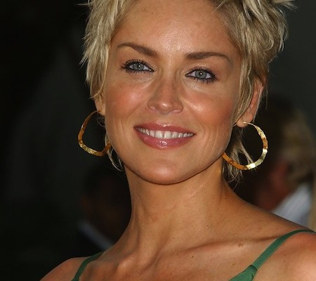 short hair sharon stone
