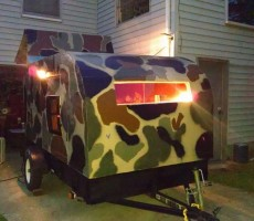 DIY Teardrop Camper Made From Recycled Materials