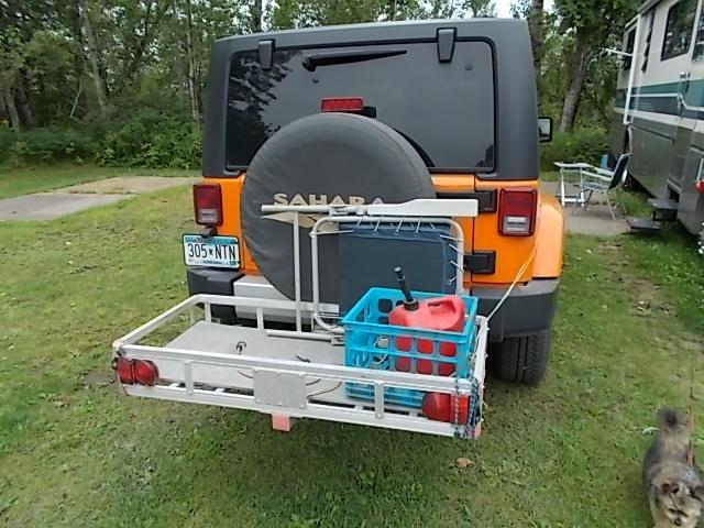 Jeep Wrangler has many hitch storage options