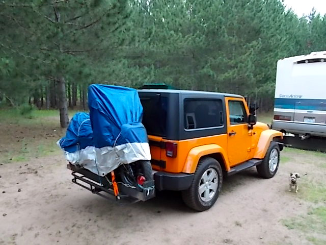 Jeep Wrangler with included hitch receiver