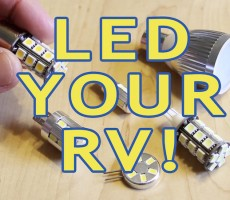 How to Replace Incandescent and Halogen Bulbs With LEDs in Your RV