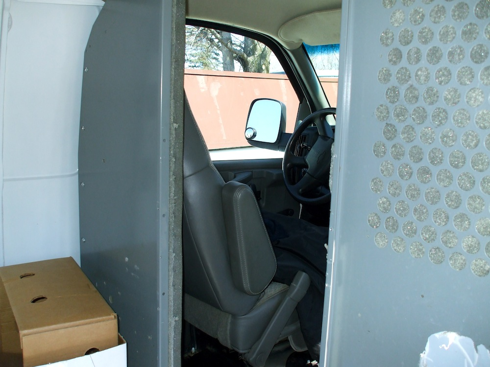 bulkhead in a commercial van