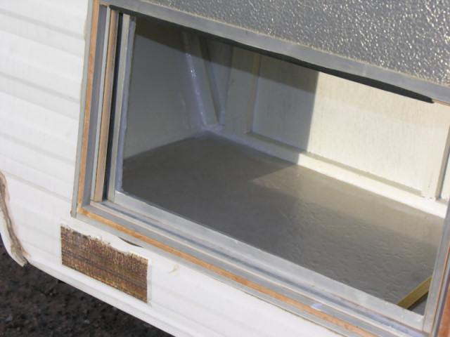 exterior storage compartment in rv