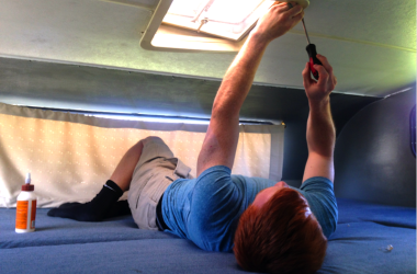 fixing vent in an RV