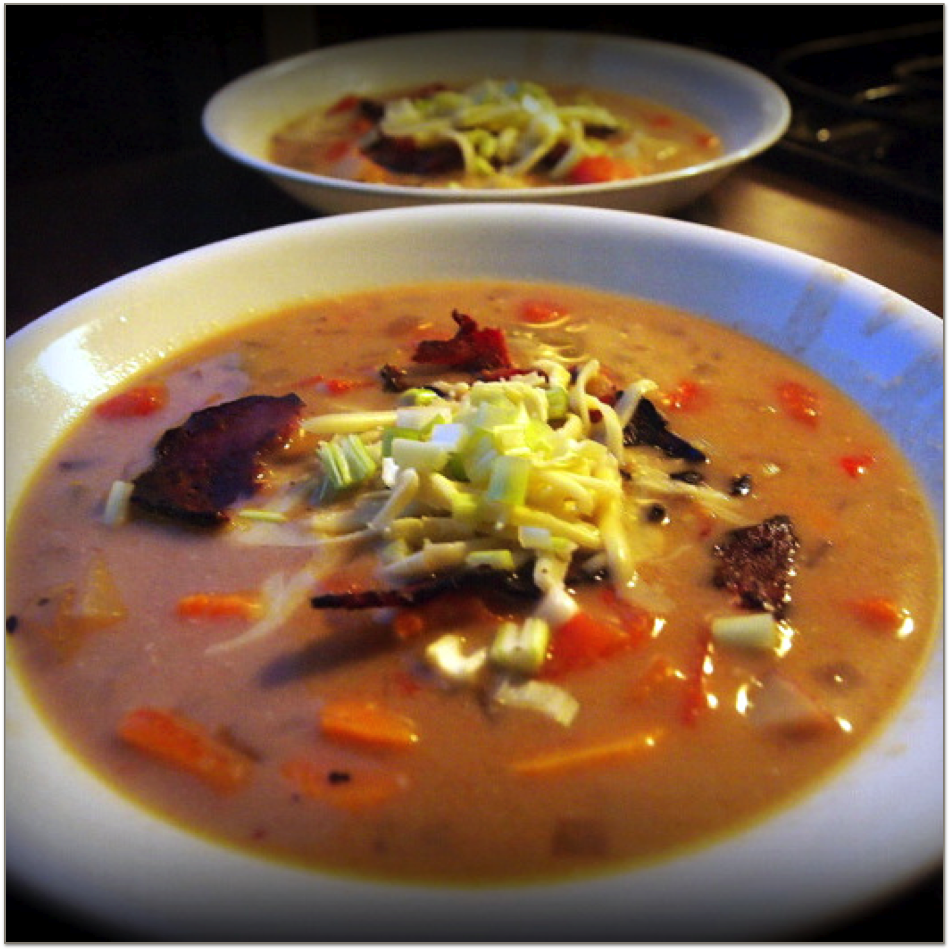 homemade soup made in an rv slow cooker