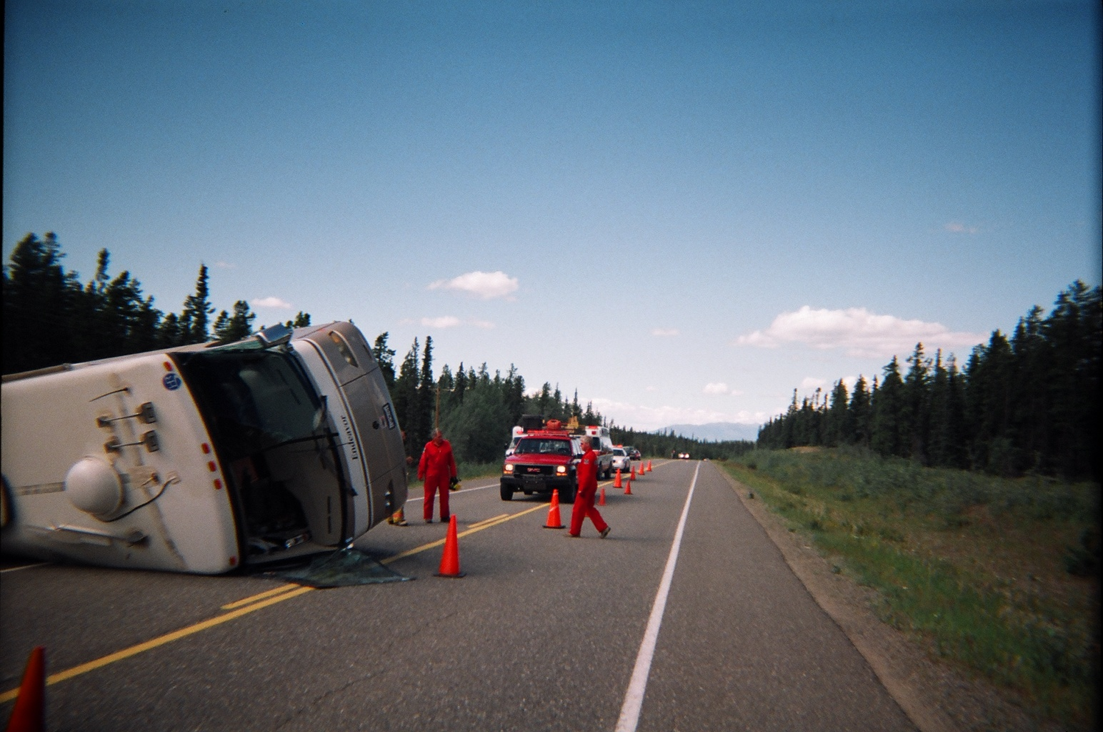 motorhome rollover accident