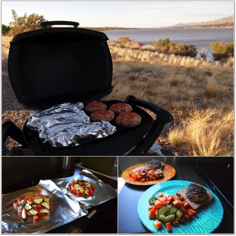 outdoor grilling while rving