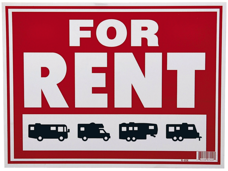 renting an rv travel trailer or truck camper