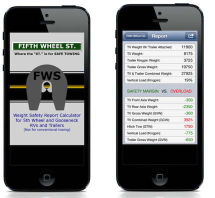 rv weight safety app