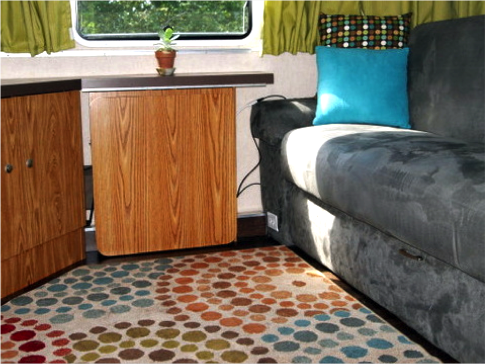 throw rugs add color and style to any rv
