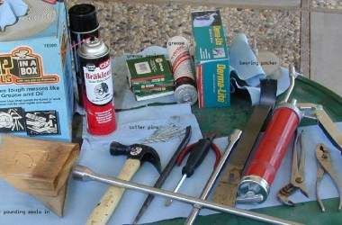 tools for packing trailer bearings