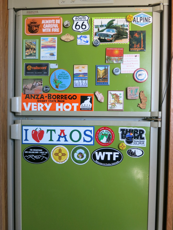 Turn your fridge into a place to display magnets (don't worry it doesn't have to be green)