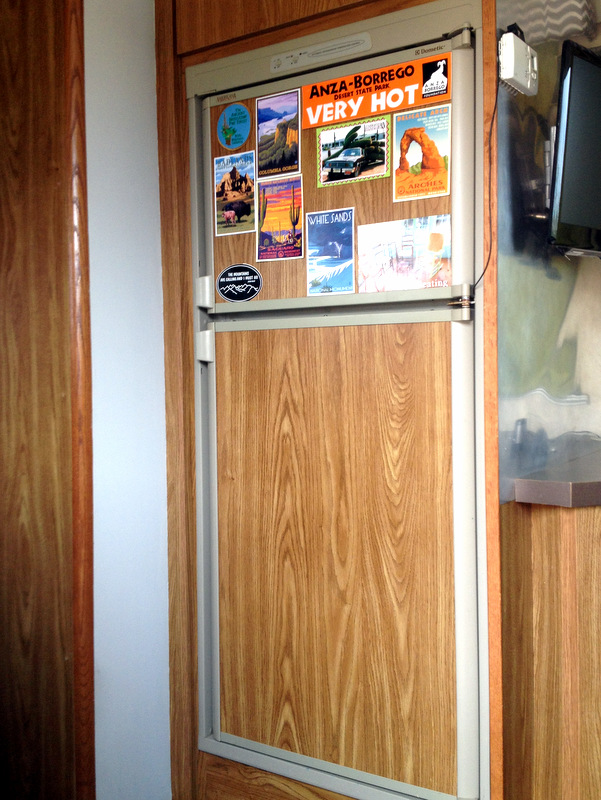 The original wooden panels - not good for magnets! Those are only stickers.