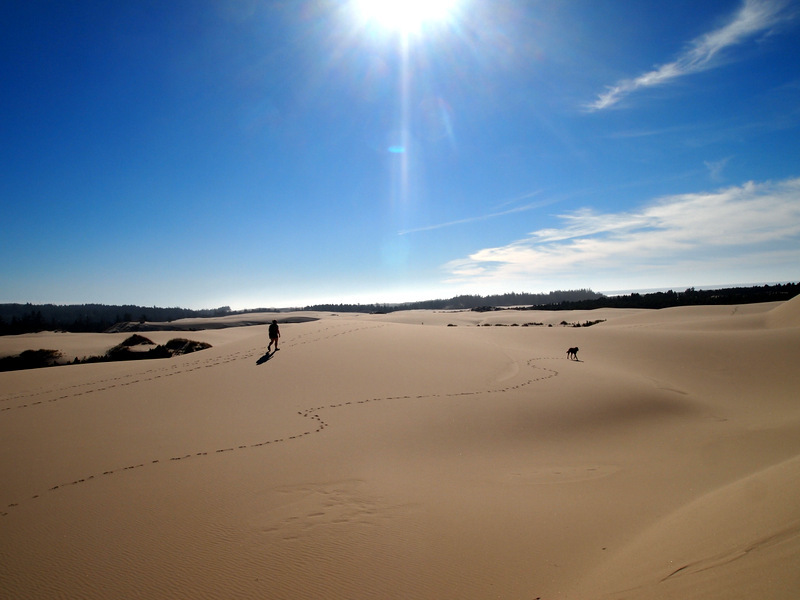 Hiking in the Oregon Sand Dunes