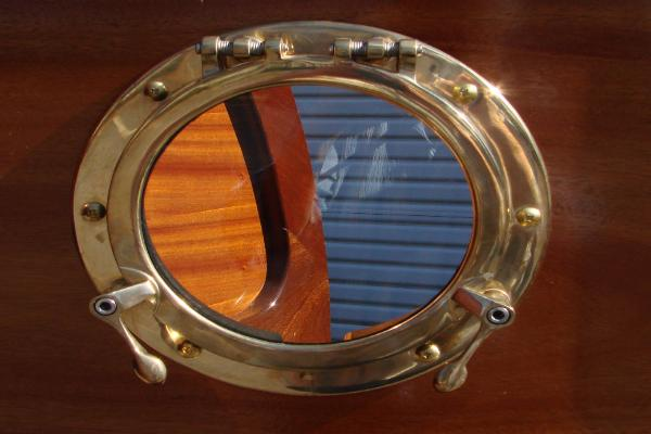 Beautiful bronze porthole window