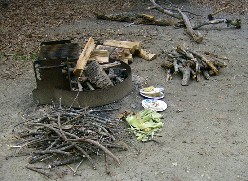 Campfire prep materials