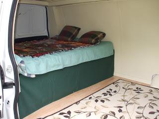 First van camper bed
