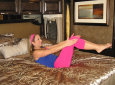 Stay Fit in Your RV: The Bed Workout