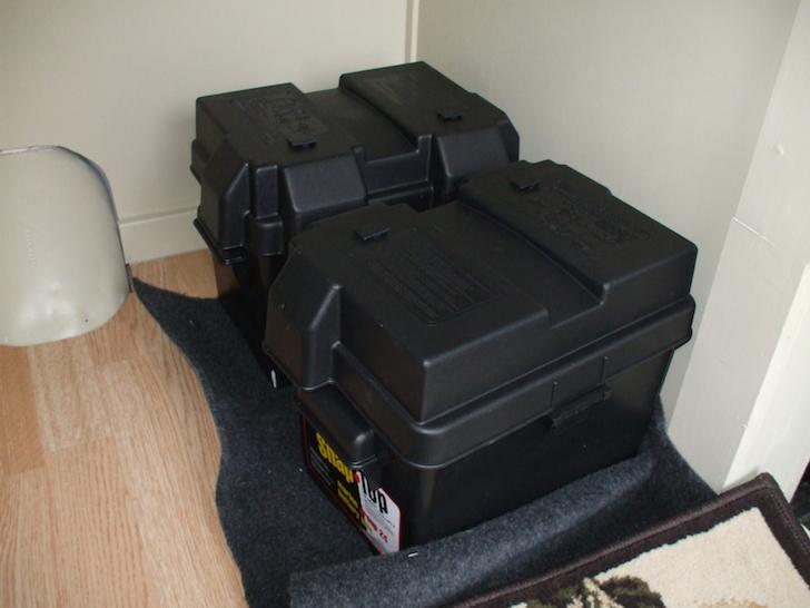 batteries with solenoid in an RV camper van