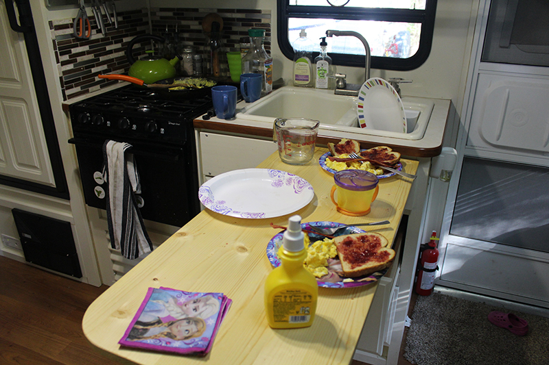 how to add an rv kitchen table extension