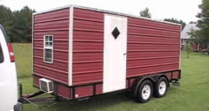 Yes, You Can Make a Utility Trailer Camper to Sleep Your 8 Kids. Wow, It's Even Got a Bunk Bed.