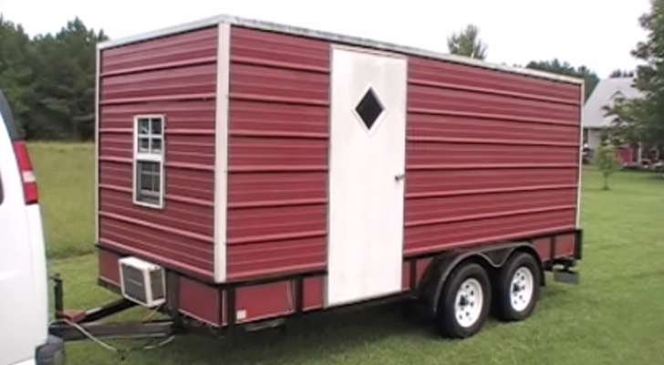 how to make a camper on a utility trailer