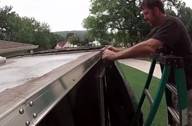 installing a tarp awning on a 6 by 10 harbor freight trailer